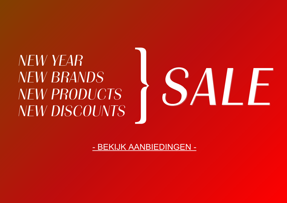 NEW YEAR, NEW BRANDS, NEW PRODUCTS, NEW DISCOUNTS