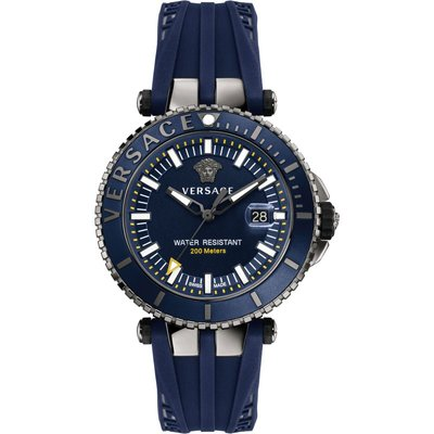 Versace V-Race Diver - VAK020016 Silver - Swiss-Made